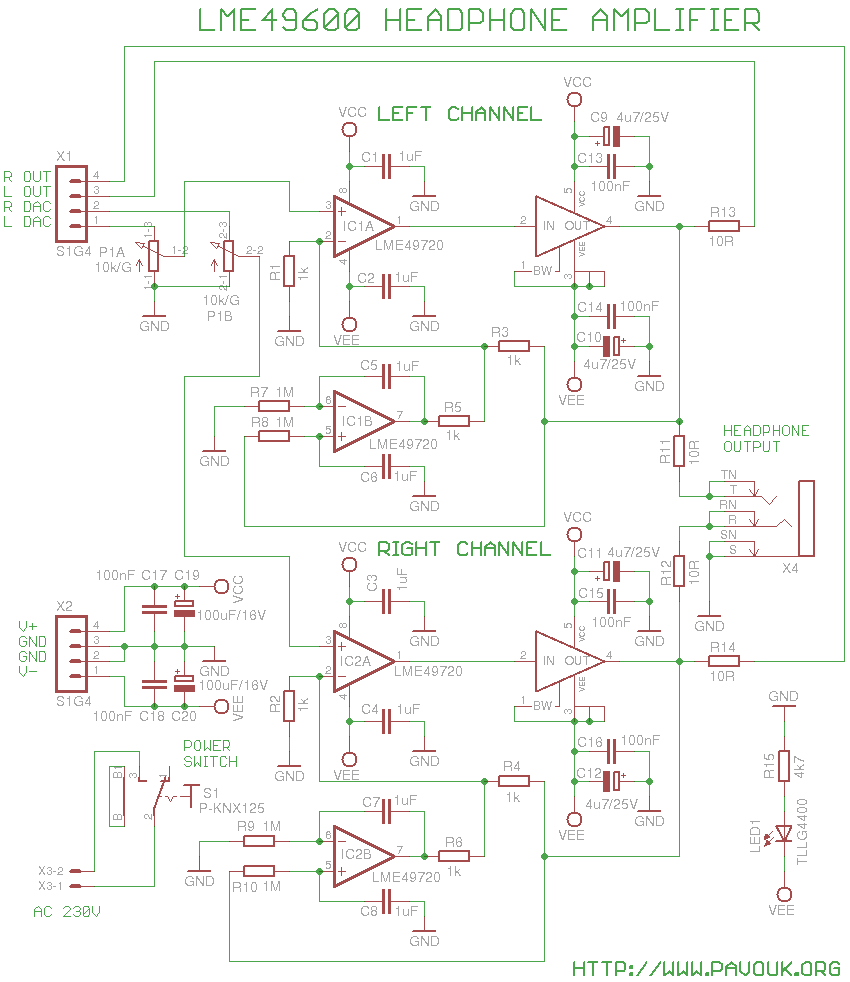 Hifi Headphone Amplifier With Lme49600 Hi Fi Circuit Electronic Circuits And Diagram Schematics