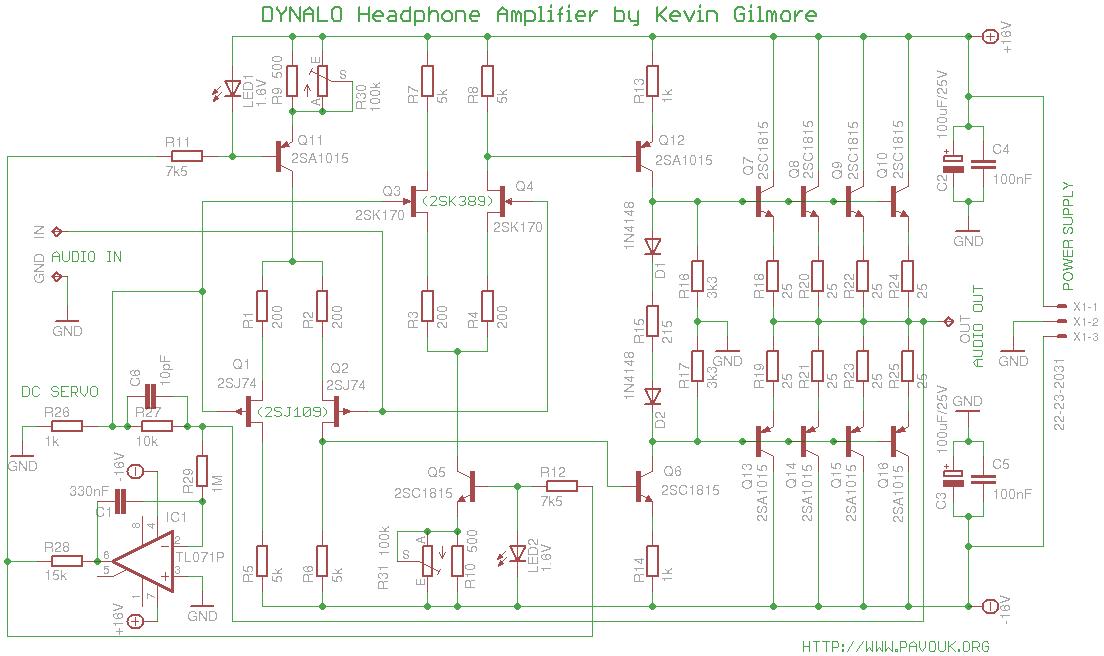 class a headphone amplifier by kevin gilmore Vehicle Wiring Schematic Wiring Schematics for Johnson Outboards