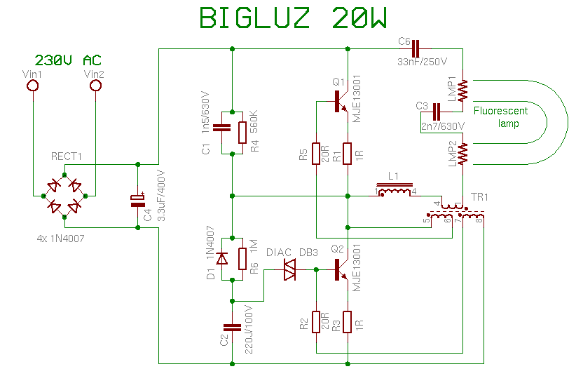 bigluz20w compact fluorescent lamp wiring diagram for compact fluorescent ballast at readyjetset.co