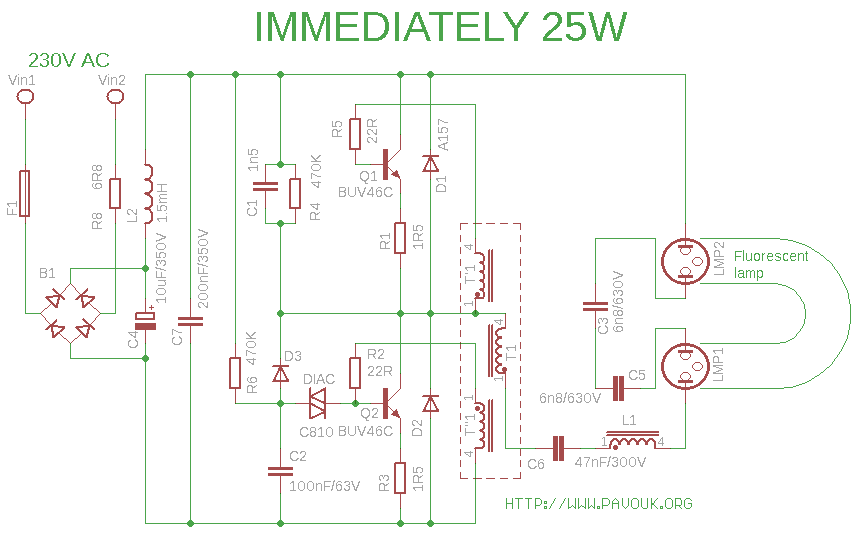 Schematics IMMEDIATELY 25W