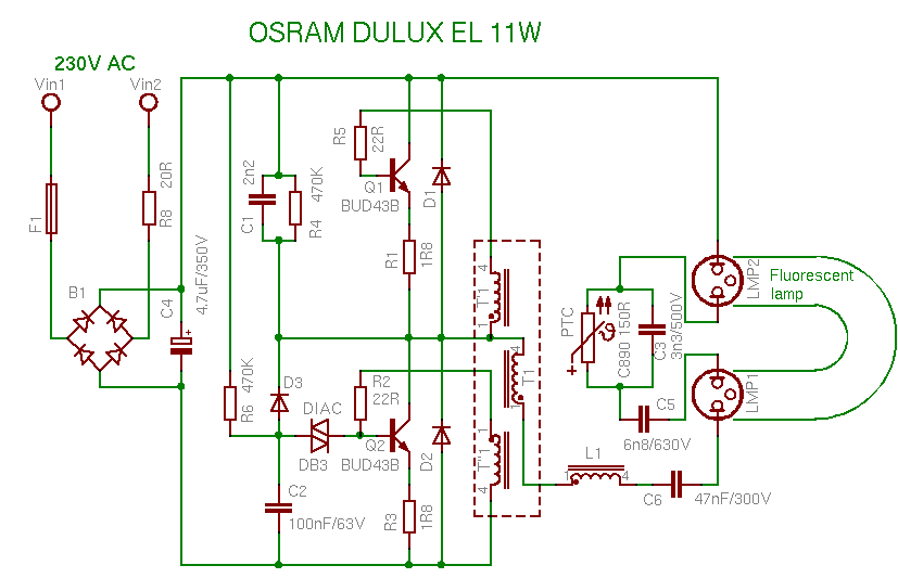 compact fluorescent lamp rh pavouk org cfl circuit diagram datasheet cfl circuit diagram and working