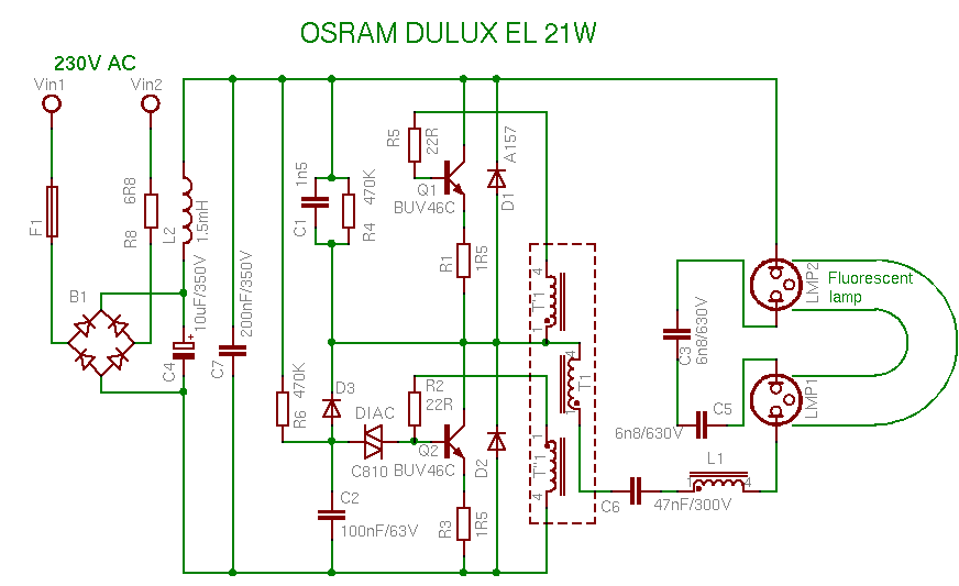 osram21w compact fluorescent lamp osram ballast wiring diagrams at alyssarenee.co