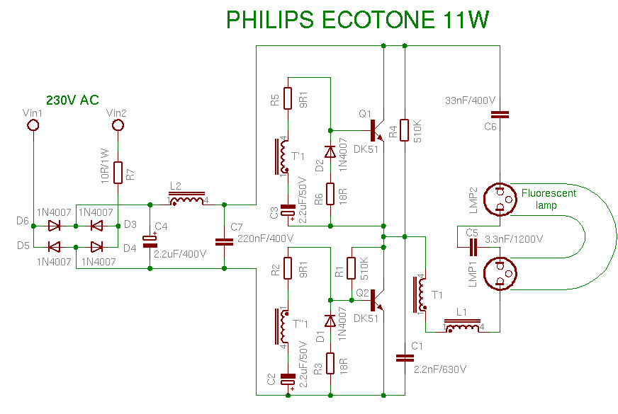 compact fluorescent lamp rh pavouk org cfl circuit diagram+working cfl circuit diagram+working