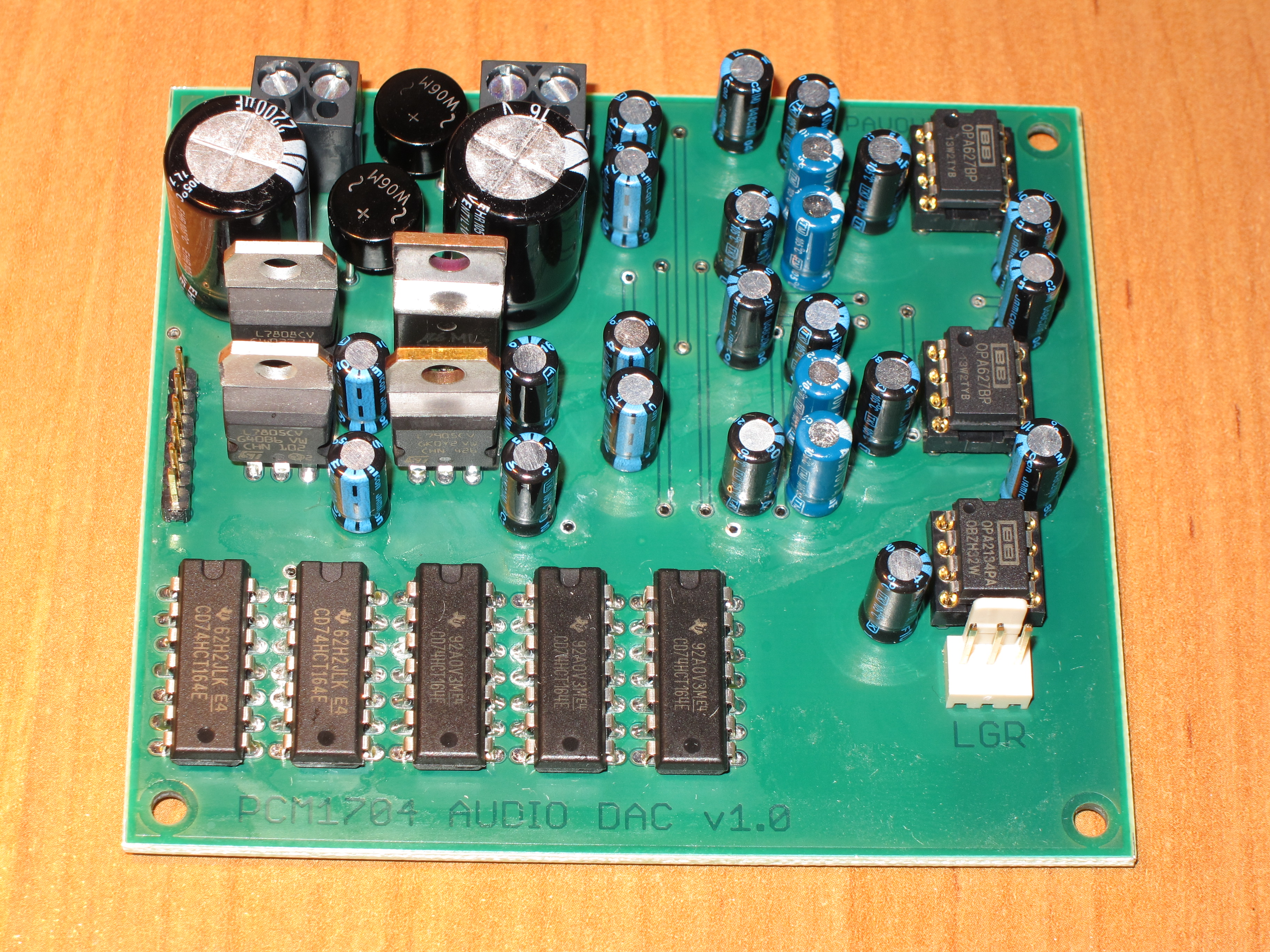 DAC with two PCM1704