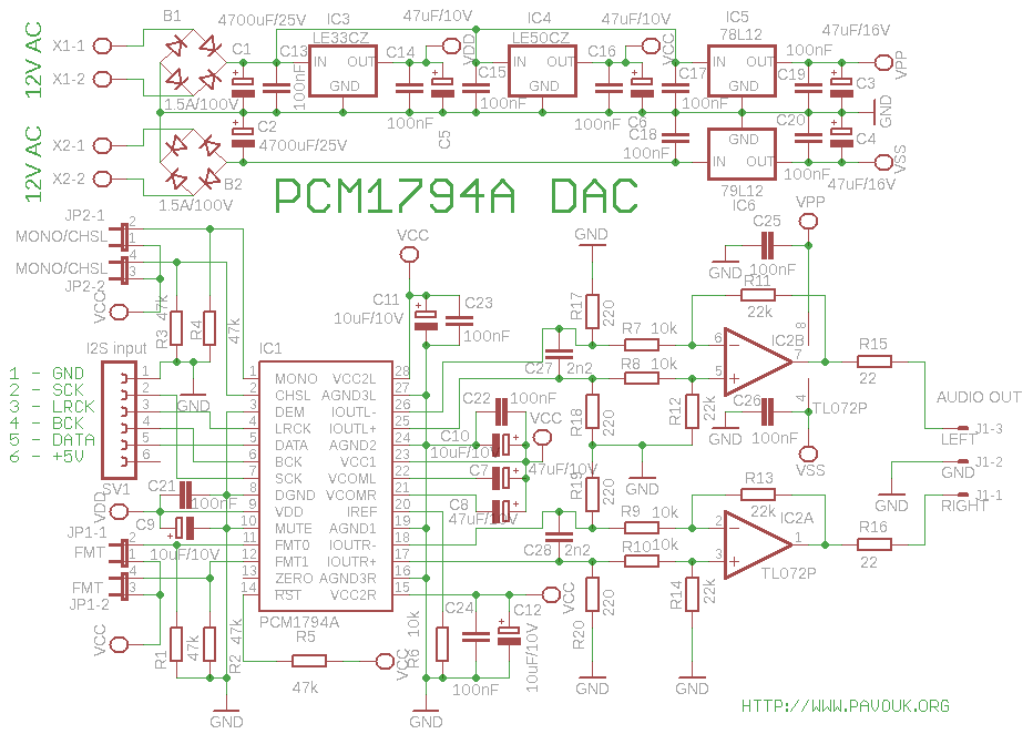 schematics of dac with pcm1794a