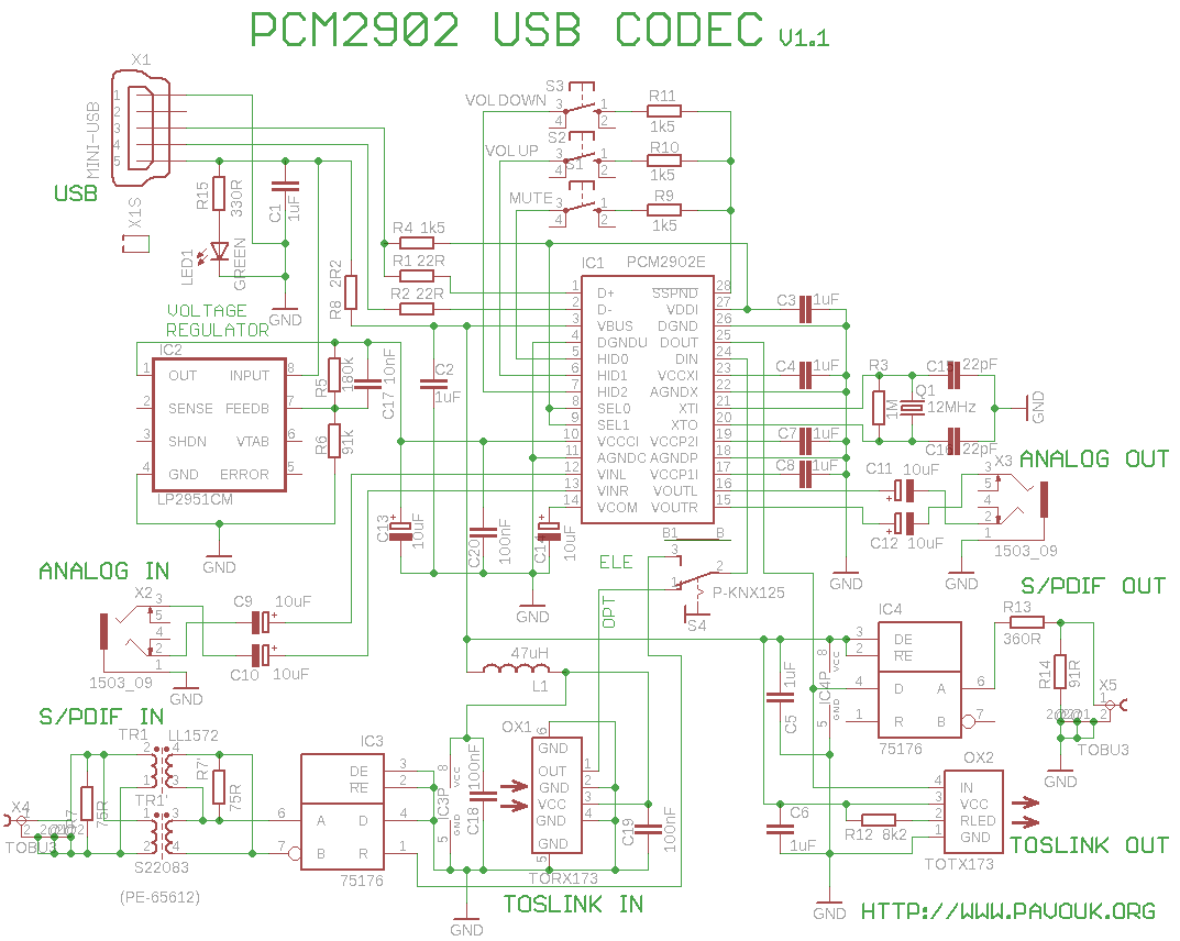 Usb Soundcard With Pcm2902 Audio Wiring Diagram Schematics